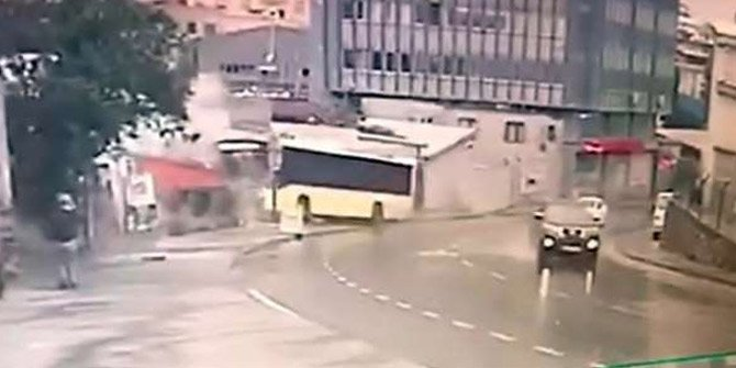 Yolcu dolu otobüs dehşeti yaşattı!