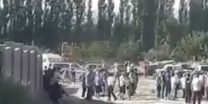 Kırgızlar ve Ahıskalılar arasında kavga