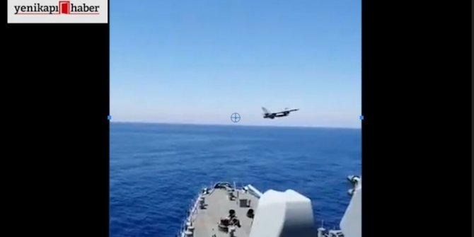 Fatih Sondaj Gemisi'ne F-16 selamı!