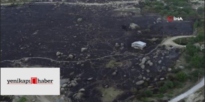 Marmara Adası'nda yangının ardından kalanlar