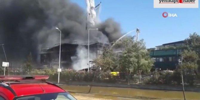 Tuzla'daki yangında yakıt tankeri böyle patladı! İşte o anlar