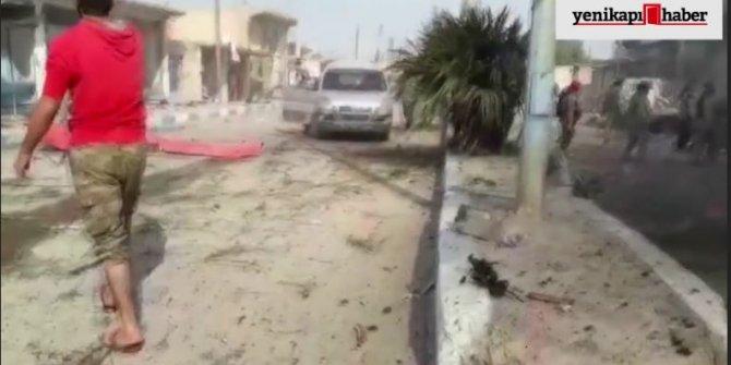 Tel Abyad'da patlama! Ölü ve yaralılar var (İşte görüntüler)