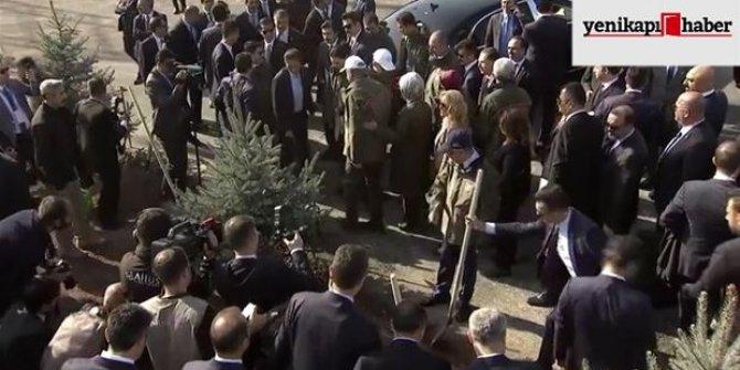 Başkan Erdoğan ve eşi Emine Erdoğan fidan dikim törenine katıldı