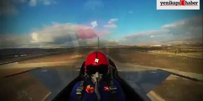 F-16 pilotu 15 saniyede 15 bin feet yüksekliğe çıktı