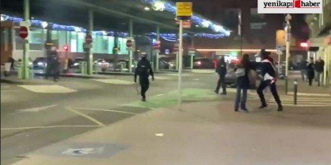Fransız polisinin göstericilere orantısız güç kullanımı kamerada