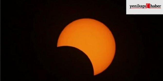 Yılın son güneş tutulması böyle görüntülendi