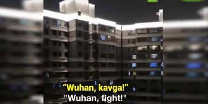 Çİn'in Wuhan şehrinde ürküten görüntü