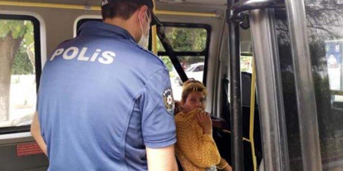 Polisi görünce ağzını hırkayla kapattı, cezadan kurtulamadı